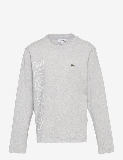 Children tee-shirt - long-sleeved t-shirts - silver chine