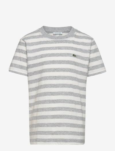 Children tee-shirt - short-sleeved t-shirts - silver chine/flour