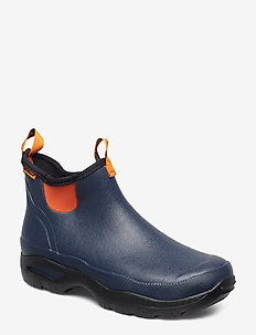 "Hampton Men's 6"" - rain boots - navy/popsicle orange"
