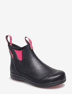 "Hampton II Women's 6"" - rain boots - black/camellia rose"