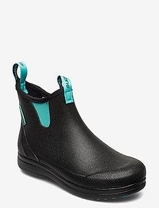 "Hampton II Women's 6"" - rain boots - black/turquoise"