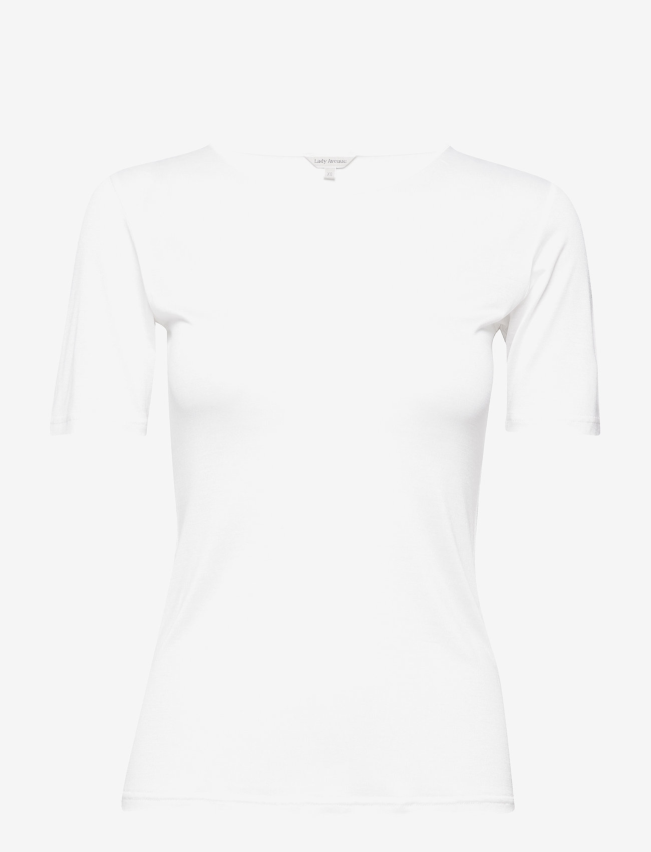 Lady Avenue - Silk Jersey - T-shirt - tops - off-white