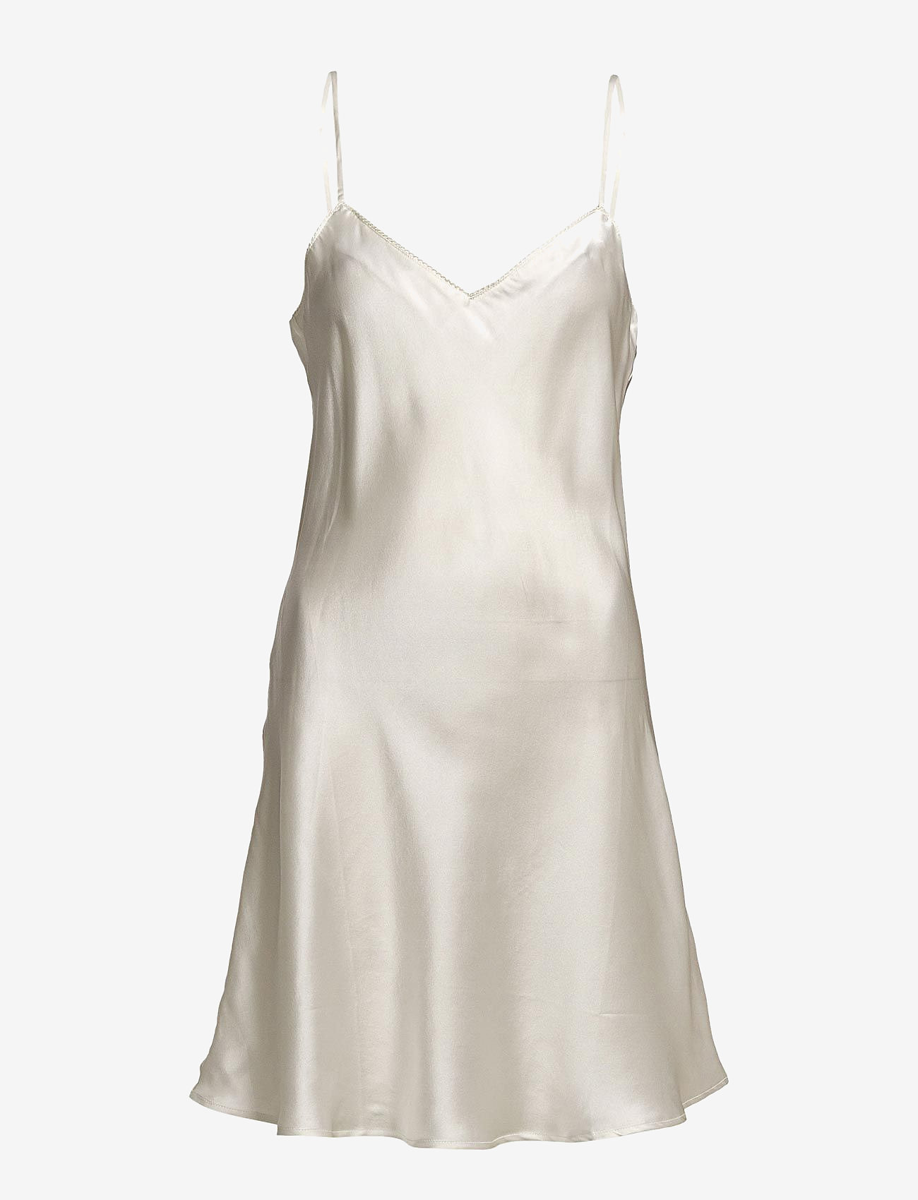 Lady Avenue - Pure Silk - Slip w.cording - natkjoler - off-white - 1