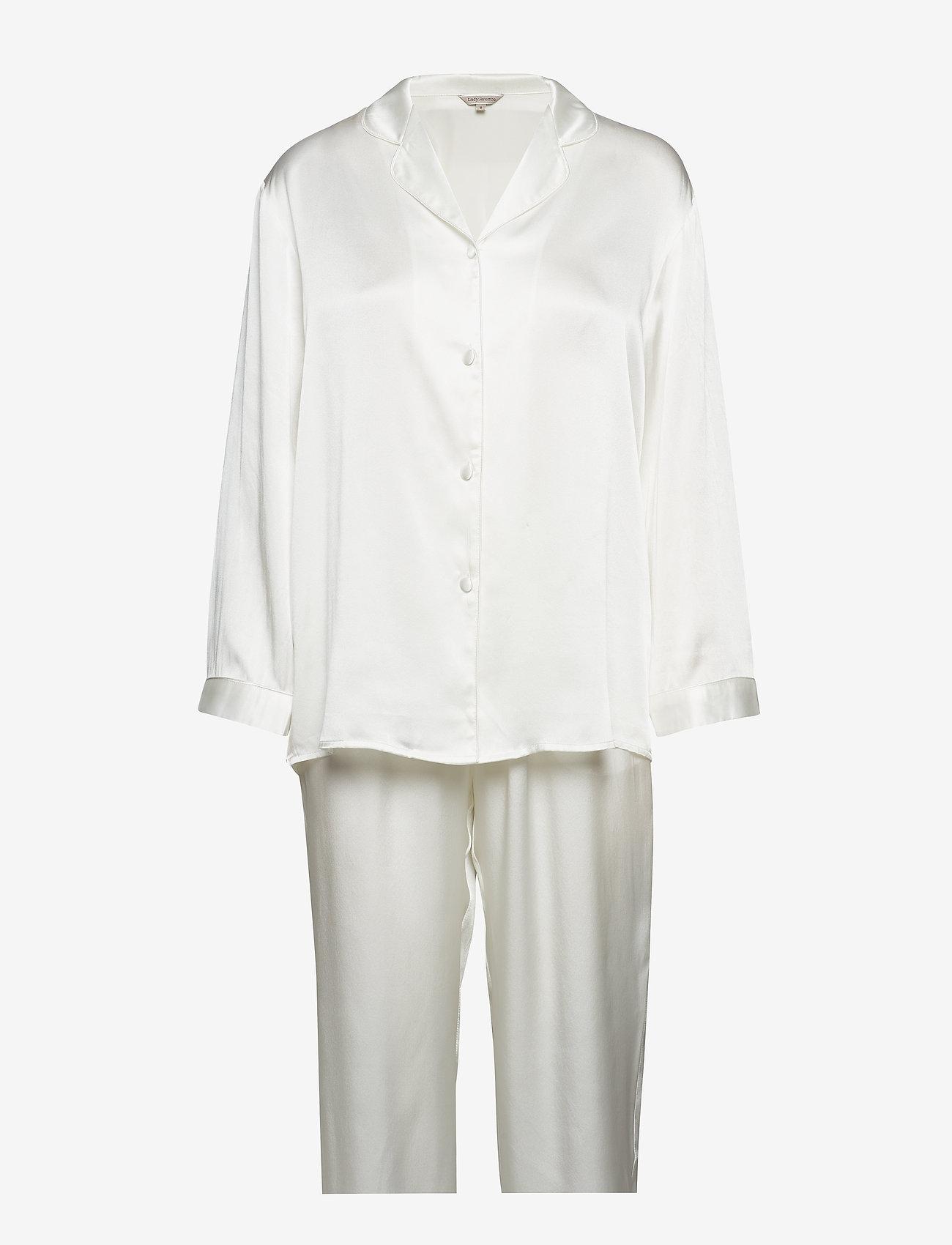Lady Avenue - Pure Silk - Basic Pyjamas - pyjama''s - off-white - 1