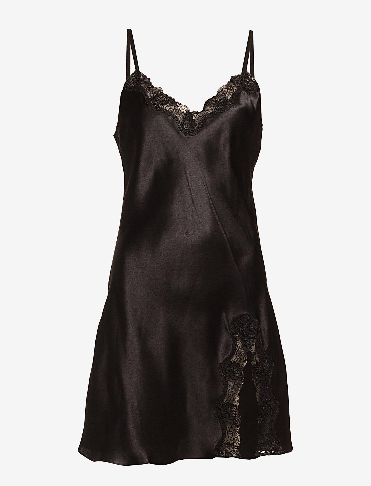 Lady Avenue - Slip with lace - nachtjurken - black