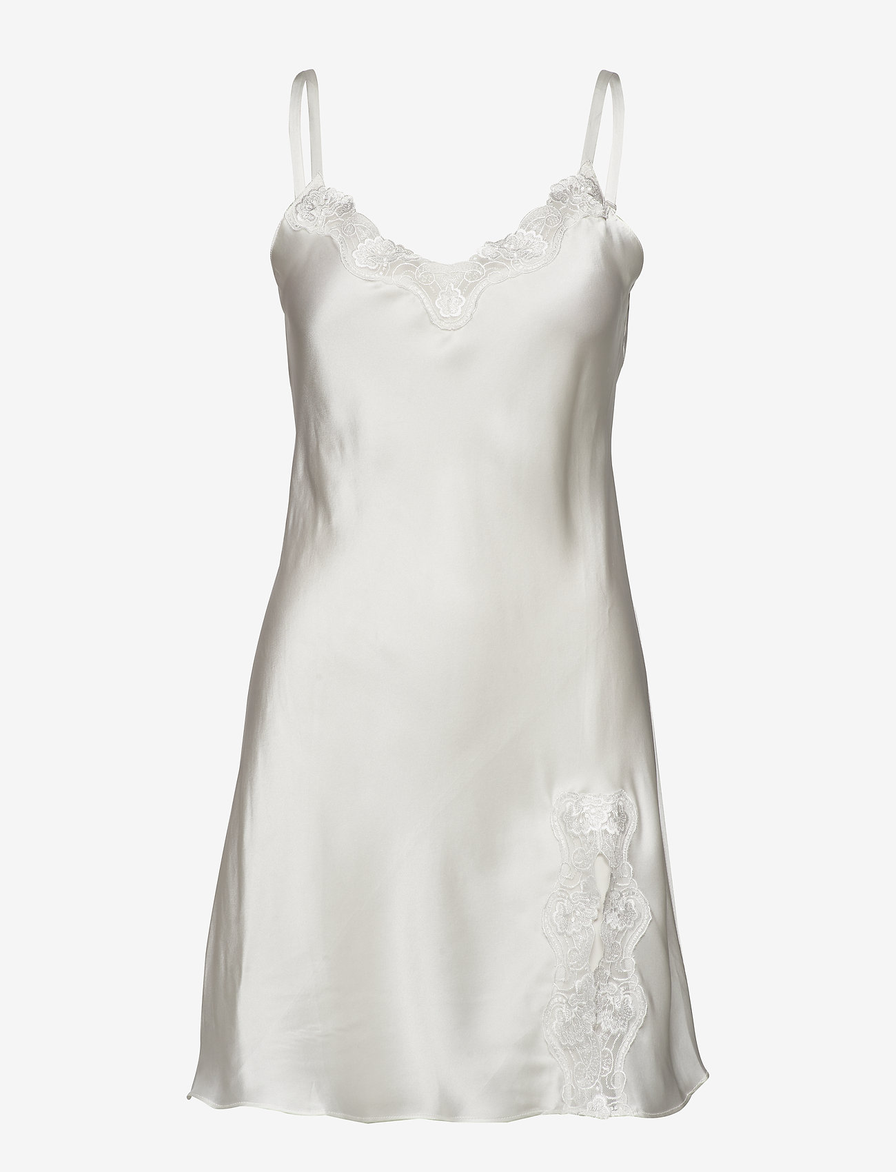 Lady Avenue - Slip with lace - nattlinnen - off-white - 1