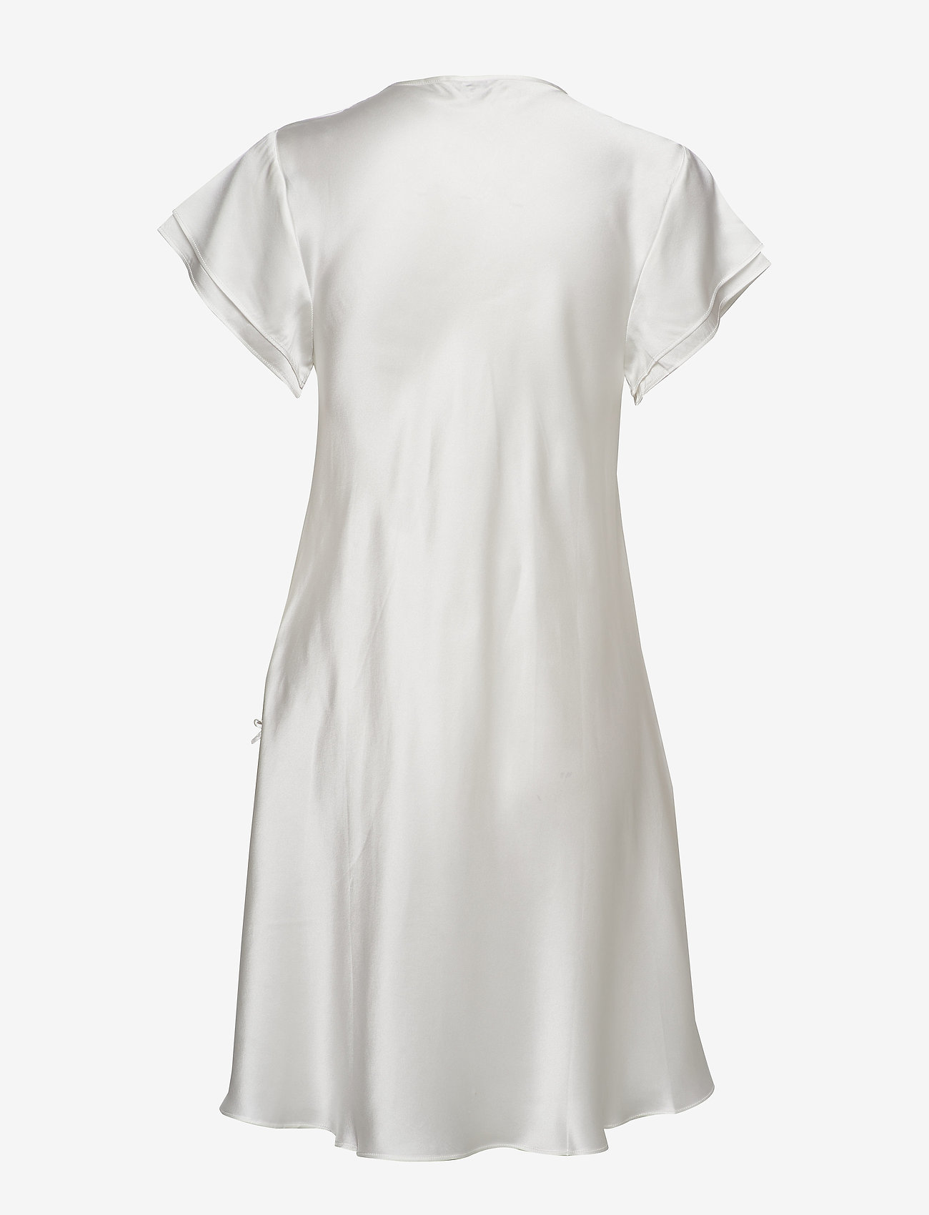 Lady Avenue - Pure Silk - Nightgown w.lace, short - nachtjurken - off-white