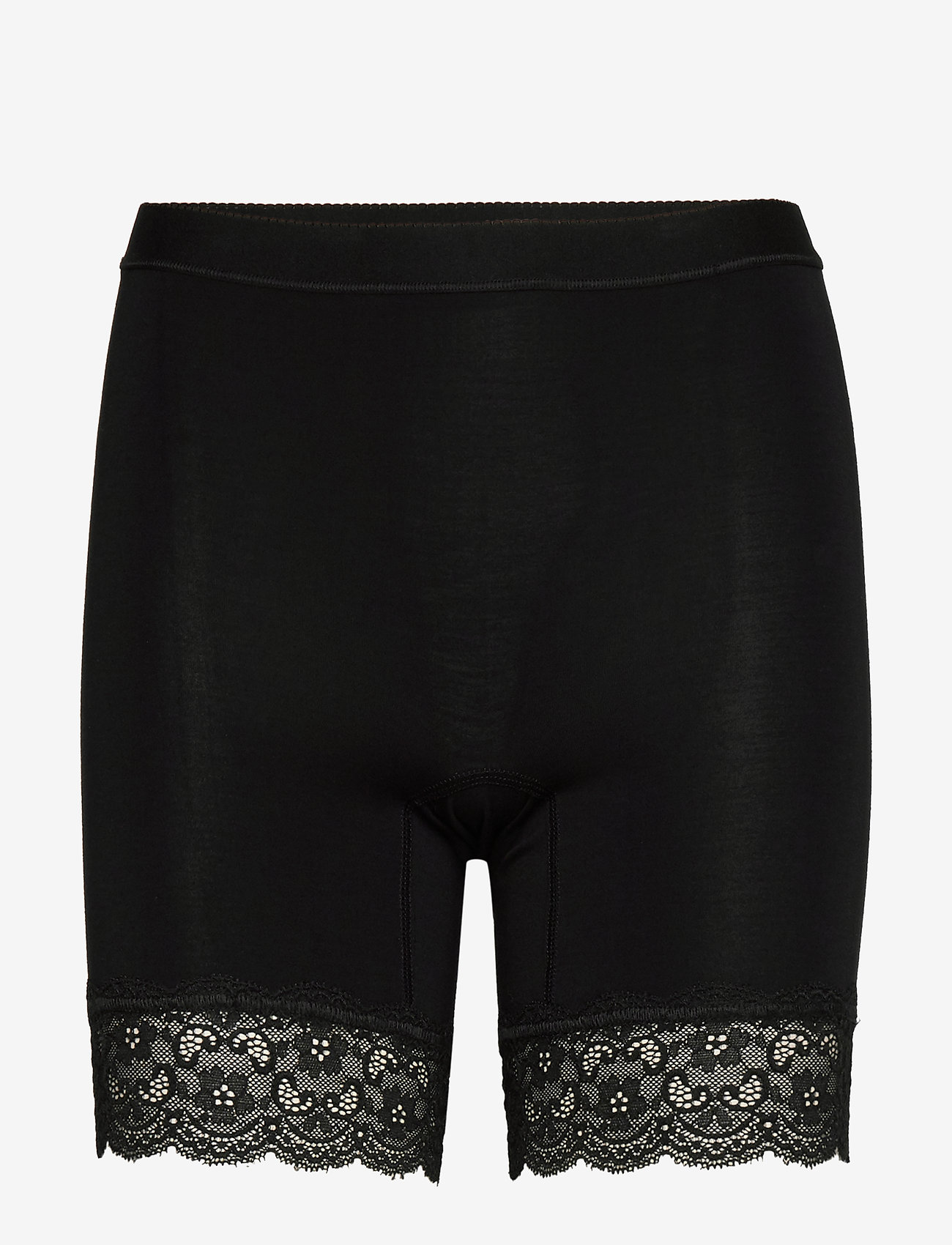 Lady Avenue - Short leggings with lace - bottoms - black - 1