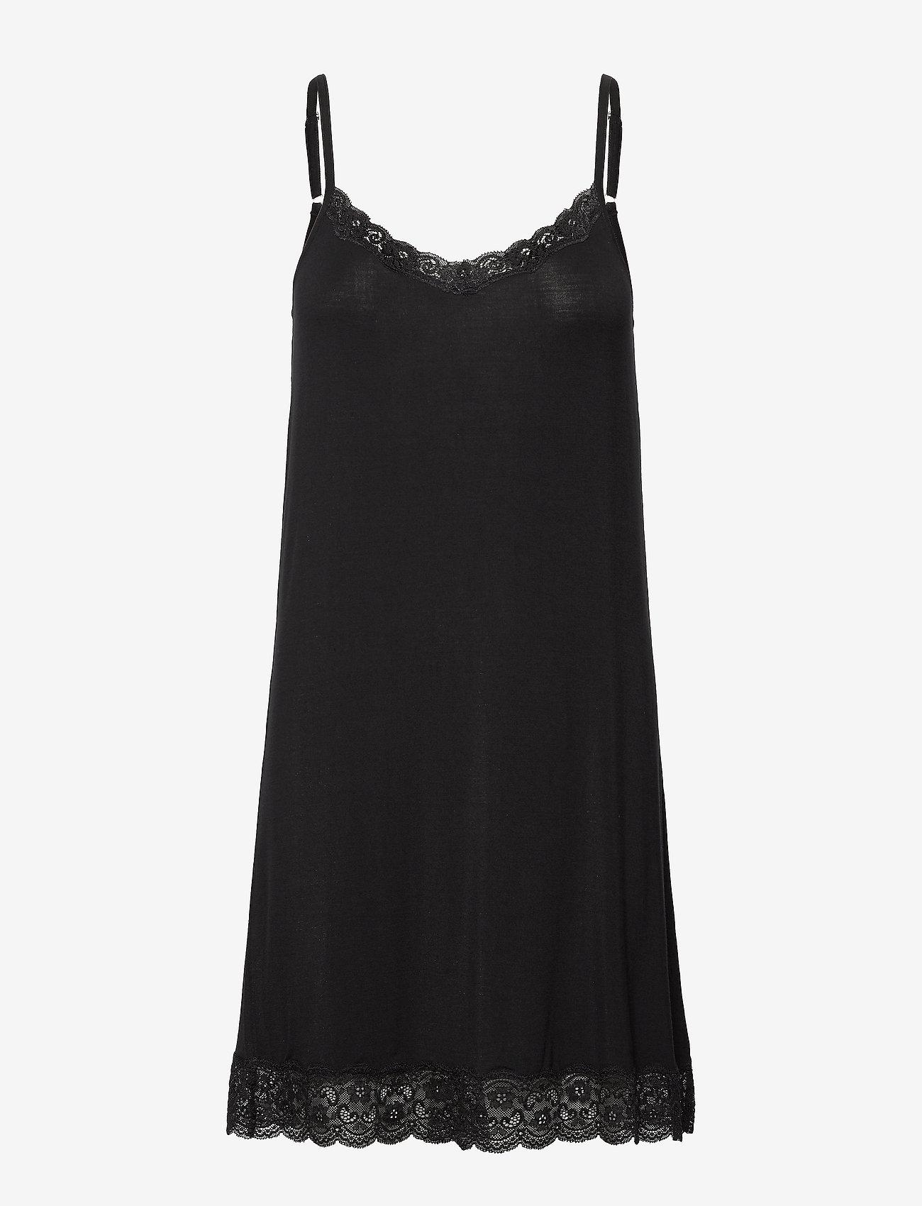 Lady Avenue - Bamboo Lace Slip - bodies & slips - black - 1