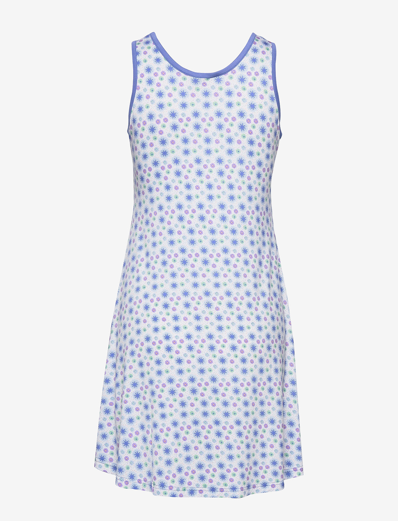 Bamboo Sleeveless Nightdress (Floral Blue) - Lady Avenue LTtngt