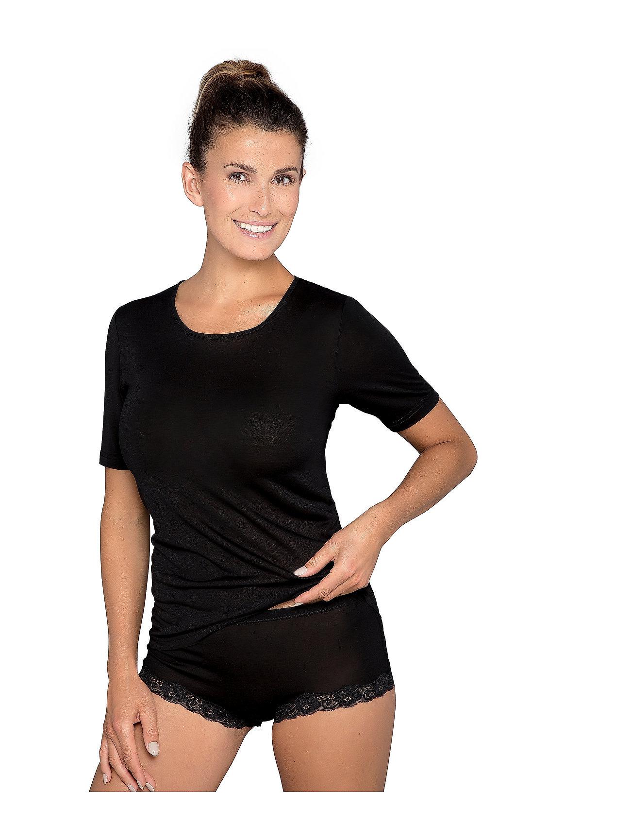 Lady Avenue - Silk Jersey - T-shirt - overdeler - black - 0