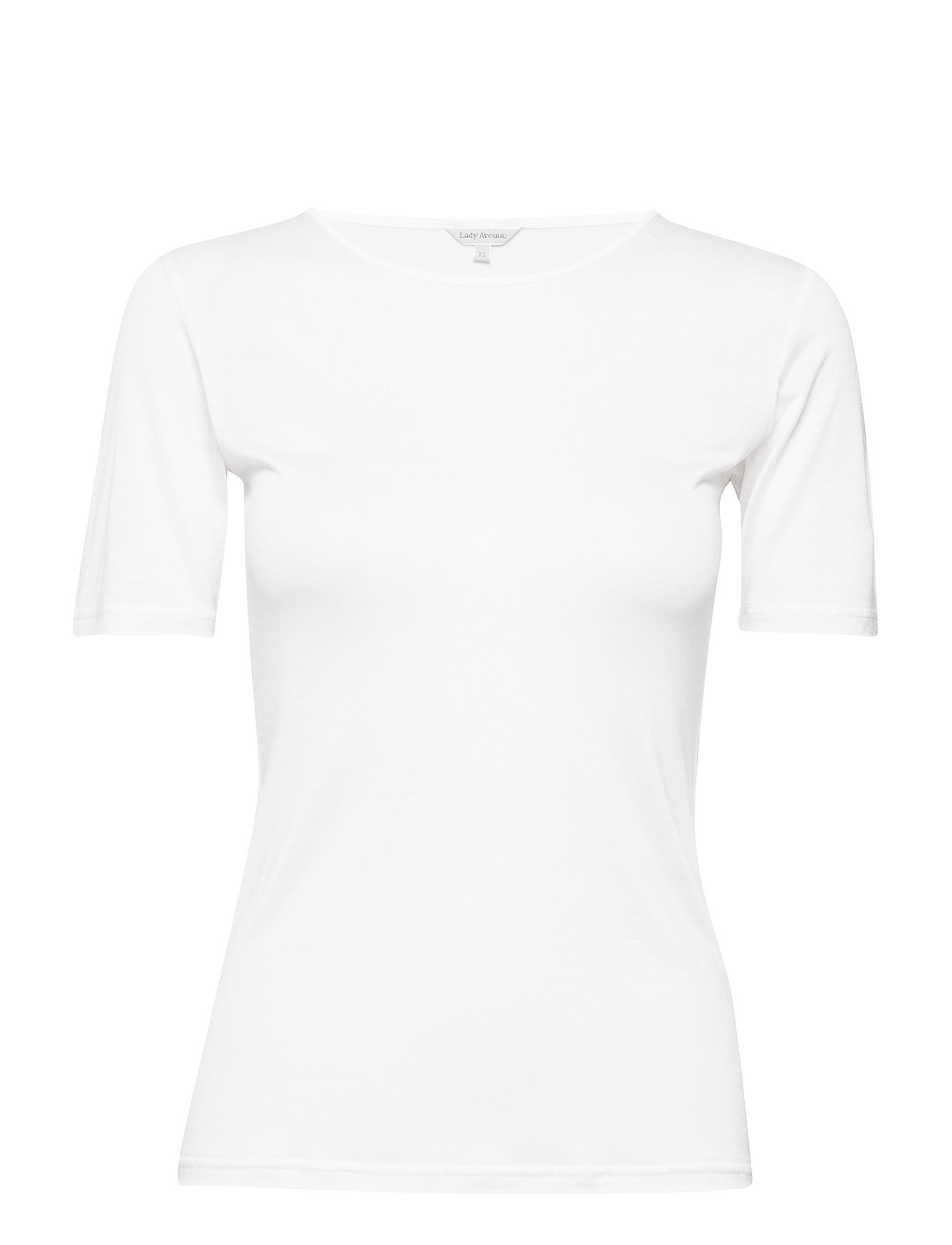 Lady Avenue Silk Jersey - T-shirt - OFF-WHITE