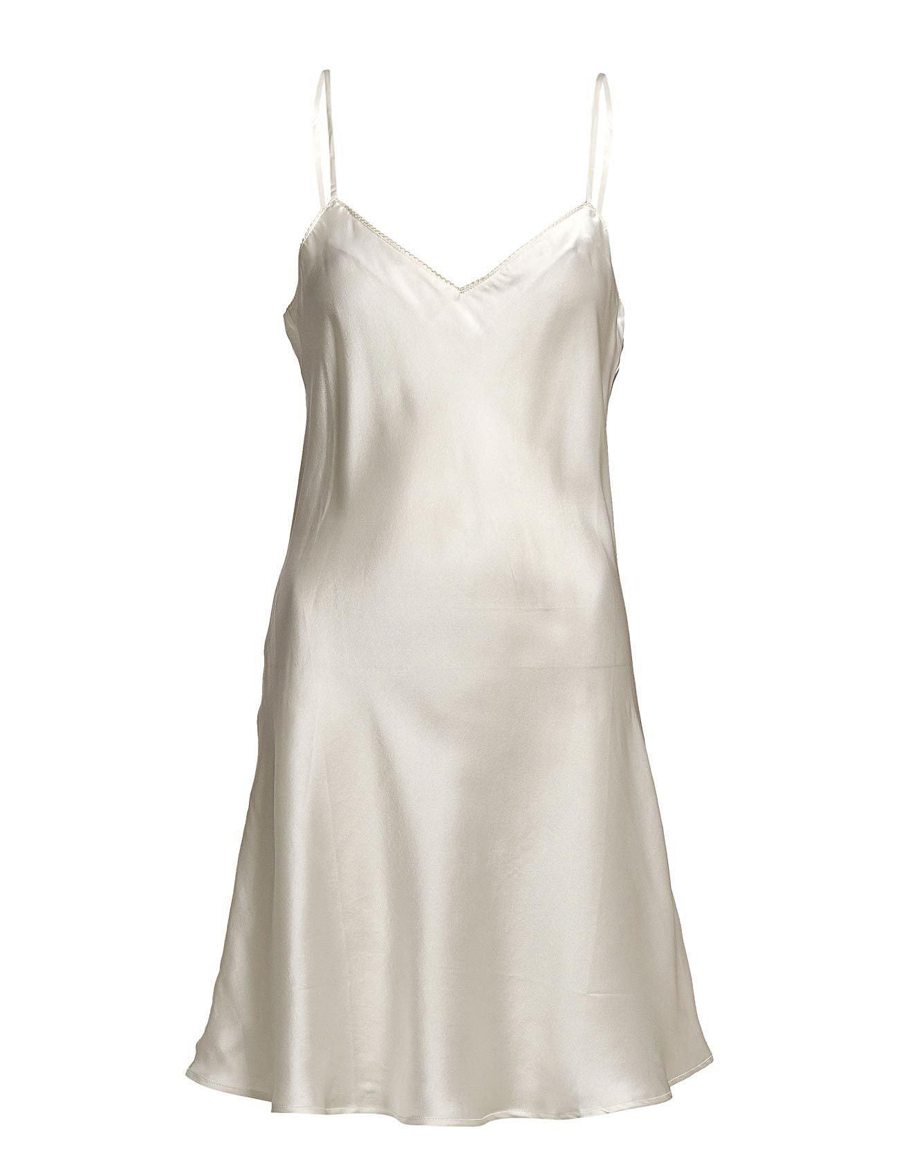 Lady Avenue Pure Silk - Slip w.cording - OFF-WHITE