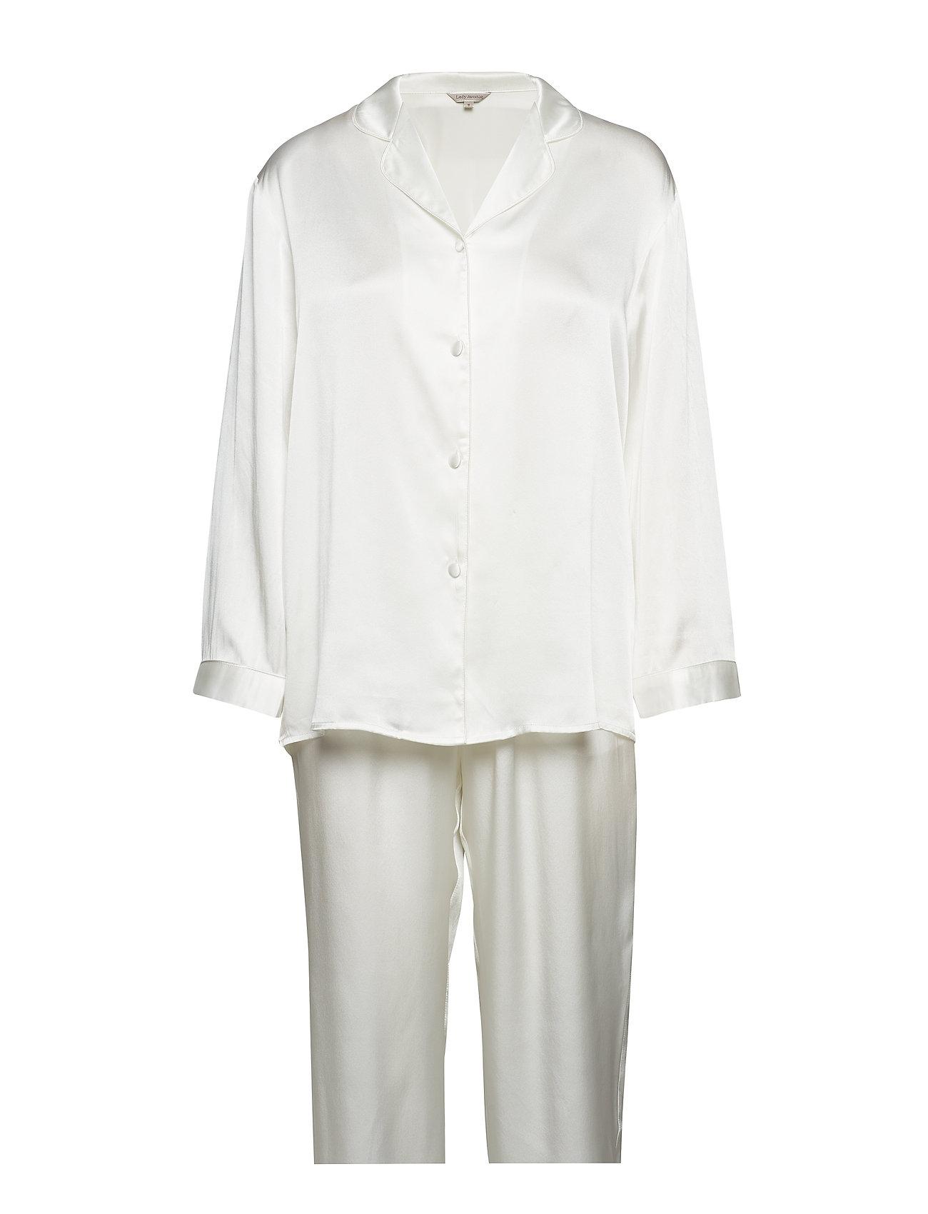 Lady Avenue Pure Silk Basic Pyjamas Sov och loungeplagg