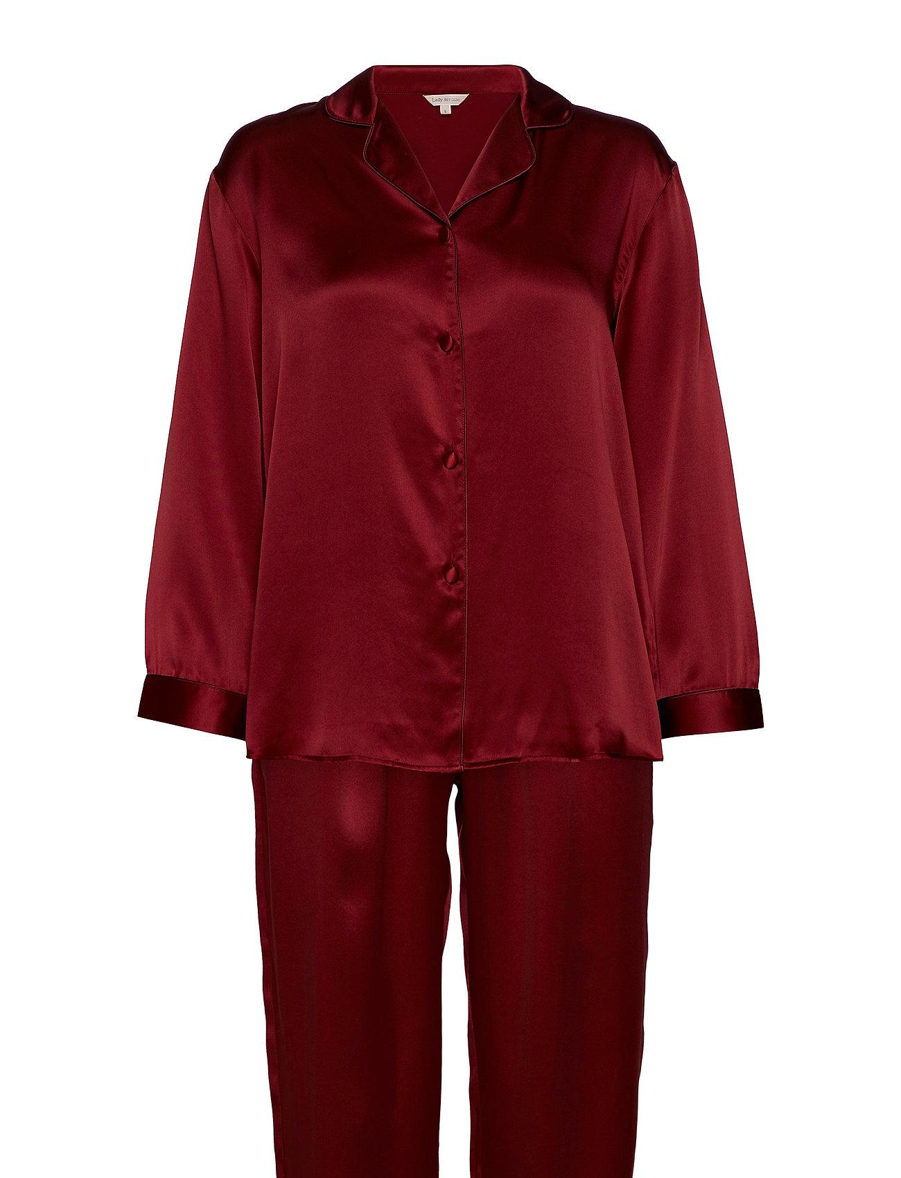 Lady Avenue Pure Silk - Basic Pyjamas - RHODONDENDRON