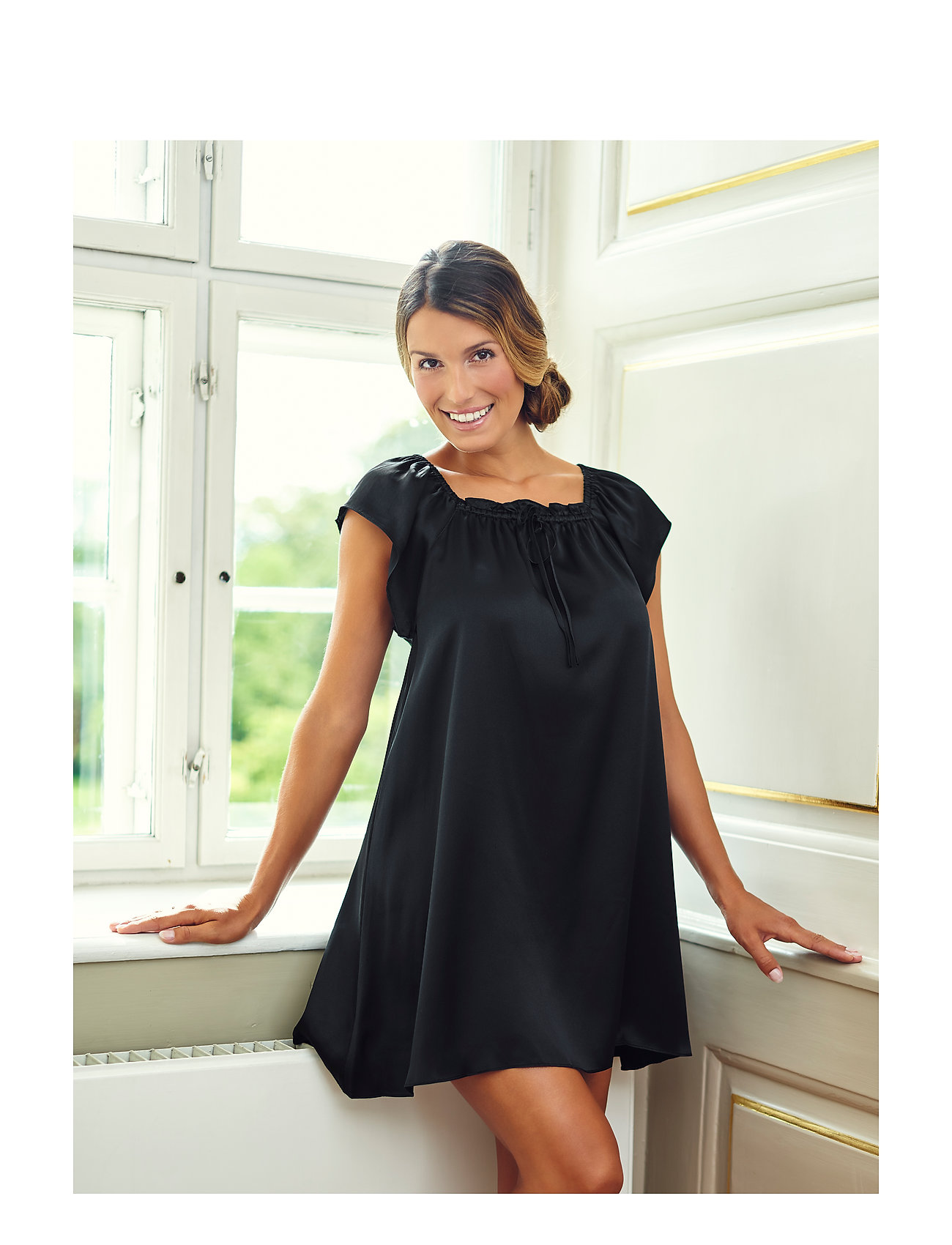 Lady Avenue - Baby Doll - nightdresses - black