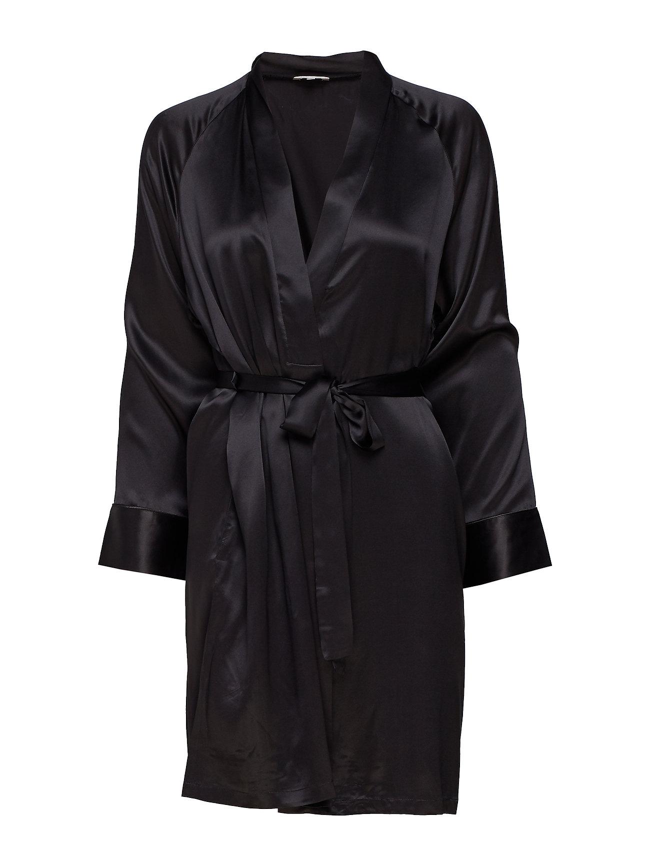 Lady Avenue Kimono - BLACK