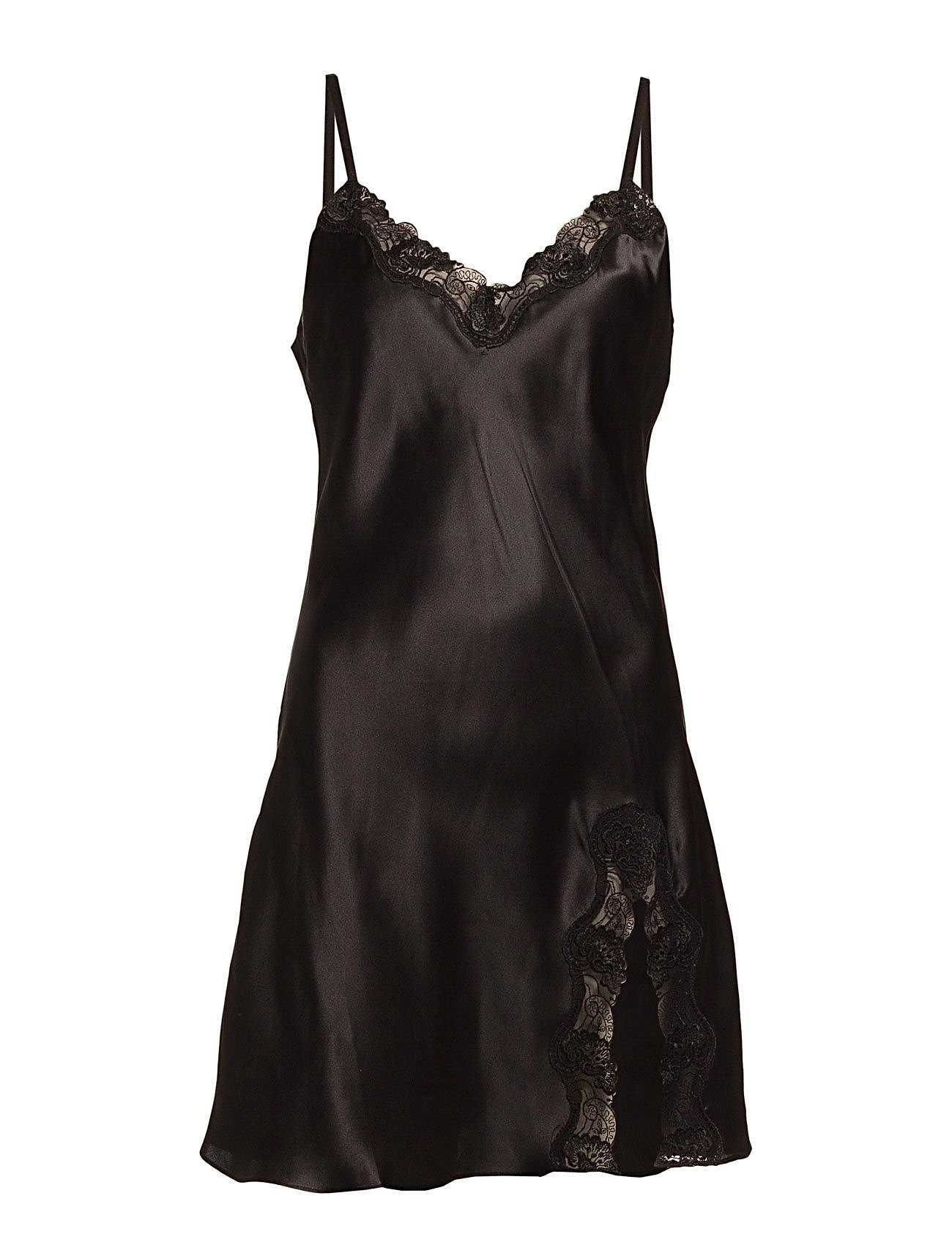 Lady Avenue Slip with lace - BLACK