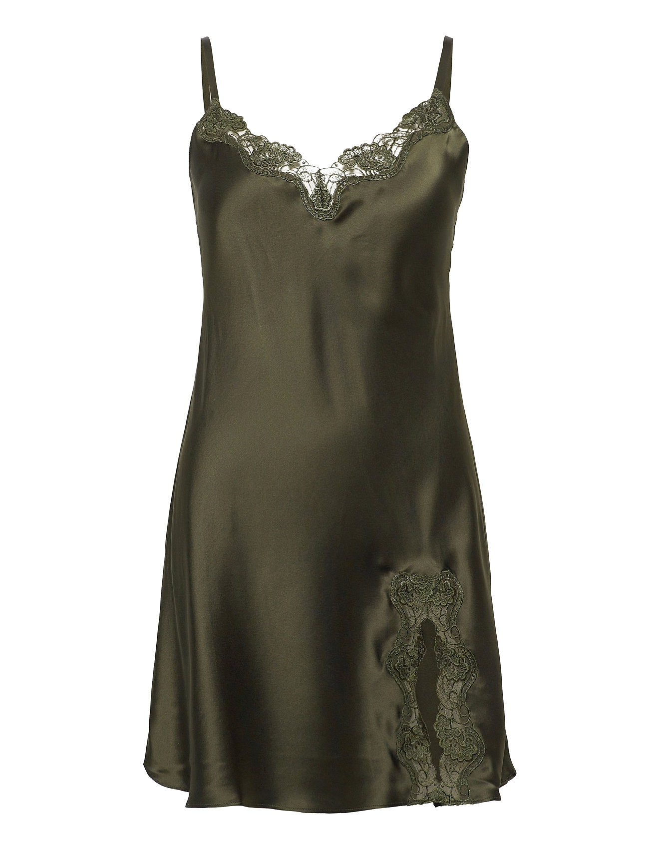 Lady Avenue Slip with lace - DEEP FORREST