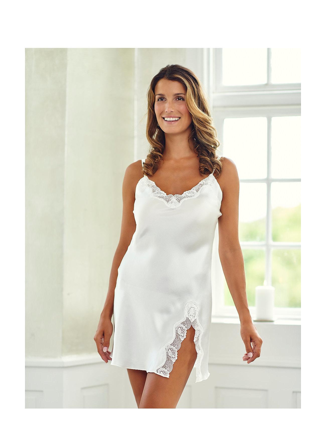 Lady Avenue - Slip with lace - koszulki do spania - off-white