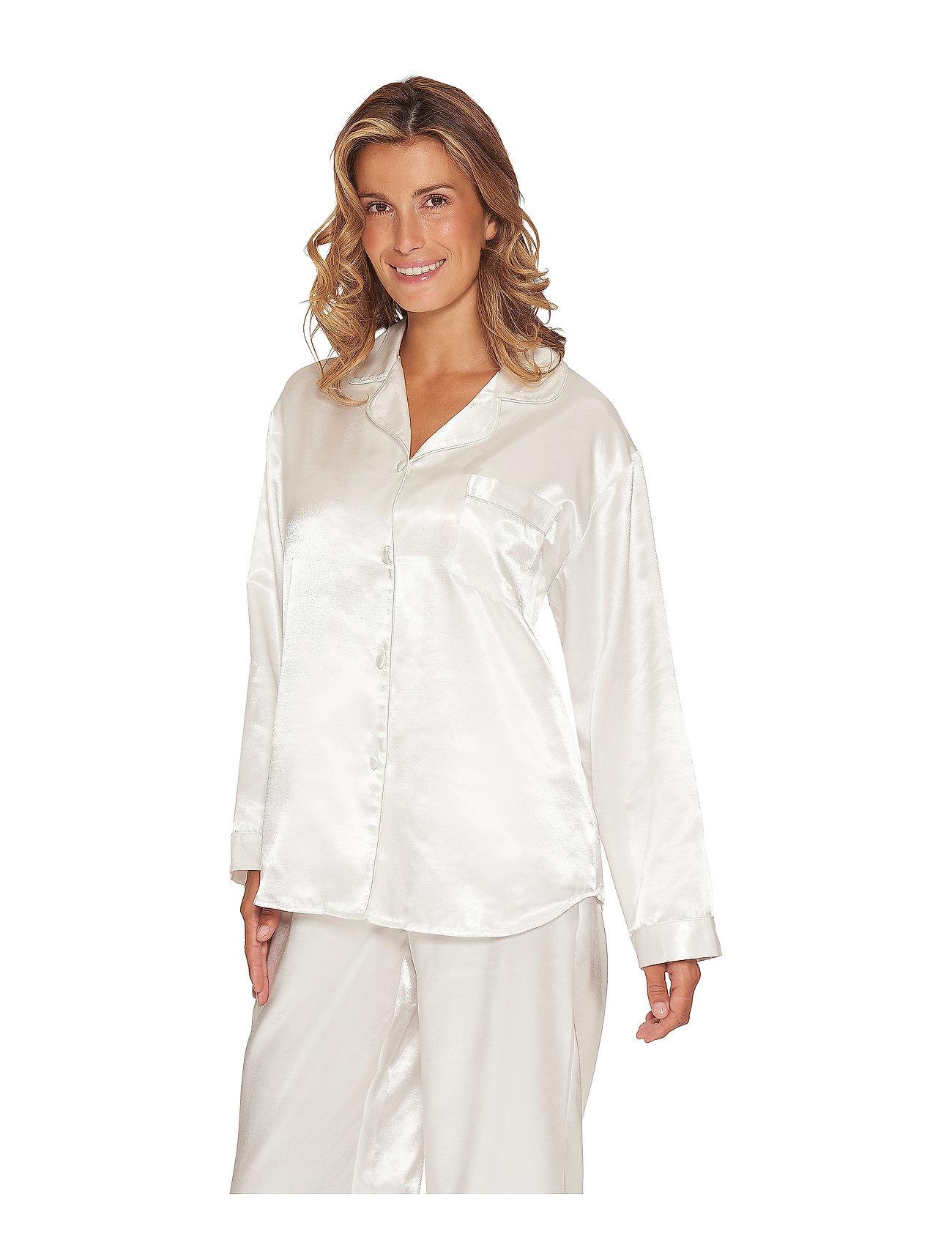 Lady Avenue - Satin Long Sleeve Pyjamas - pyjamas - black - 0