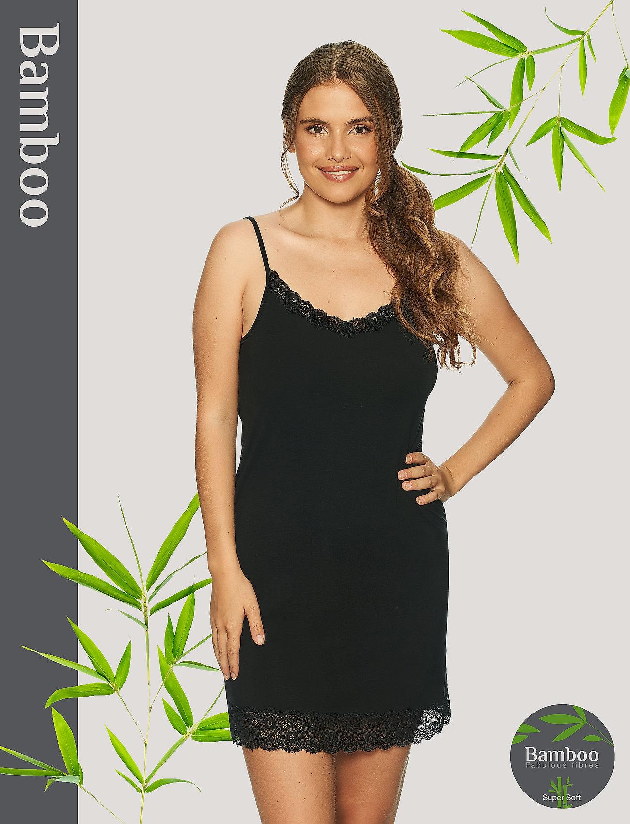 Lady Avenue - Bamboo Lace Slip - bodies & slips - black - 0