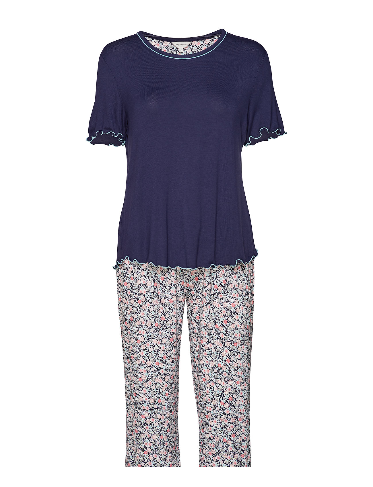 Lady Avenue Bamboo Short-sleeve PJ with pirate pants - ADMIRAL