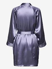Lady Avenue - Pure Silk - Short Kimono - morgonrockar - pigeon blue - 2
