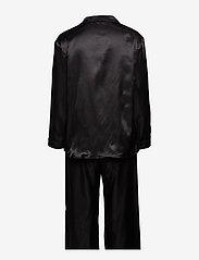 Lady Avenue - Satin Long Sleeve Pyjamas - pyjamas - black - 2