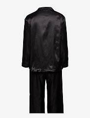 Lady Avenue - Satin Long Sleeve Pyjamas - pyjamat - black - 2