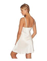 Lady Avenue - Pure Silk - Slip w.cording - nightdresses - black - 4