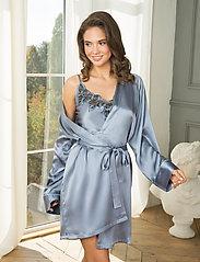Lady Avenue - Pure Silk - Short Kimono - morgonrockar - pigeon blue - 3
