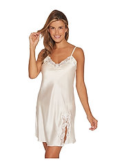 Lady Avenue - Slip with lace - nattlinnen - off-white - 3