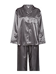 Satin Long Sleeve Pyjamas - ARMY