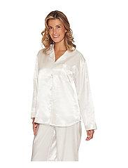 Lady Avenue - Satin Long Sleeve Pyjamas - pyjamat - black - 0