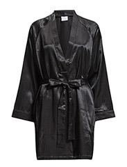 Satin Short kimono - BLACK bfcb6af97