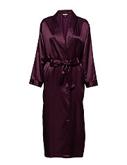 Satin Long robe - AUBERGINE