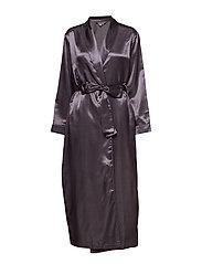 Satin Long robe - CHARCOAL