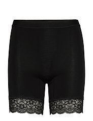 Short leggings with lace - BLACK
