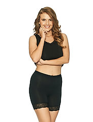 Lady Avenue - Short leggings with lace - bottoms - black - 2