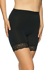 Lady Avenue - Short leggings with lace - bottoms - black - 3