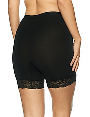 Lady Avenue - Short leggings with lace - bottoms - black - 4