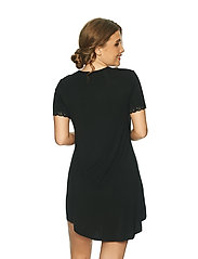 Lady Avenue - Bamboo Nightdress with short sleeve - nachtjurken - black - 3