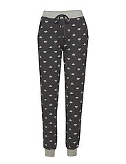 Bamboo Casual Lounge Pant - GRAPHITE FLORAL MELANGE