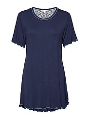 Bamboo Short-sleeve Nightdress - ADMIRAL