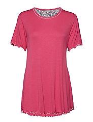 Bamboo Short-sleeve Nightdress - CORAL PINK