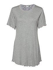 Bamboo Short-sleeve Nightdress - GREY MELANGE
