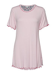 Bamboo Short-sleeve Nightdress - ROSE