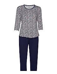 Bamboo Long-sleeve Pyjamas - CORAL FLOWER