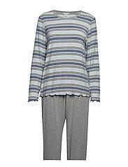 Bamboo Long Sleeve Pyjamas - BLUE STRIPE